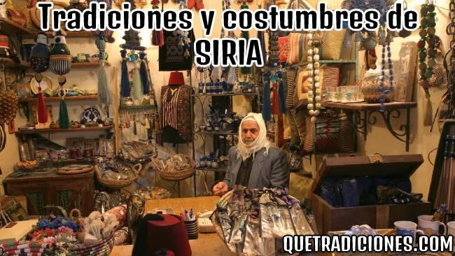tradiciones y costumbres de siria
